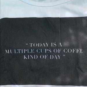 T-shirt with Black Print